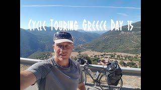 Cycle Touring Greece Day 15 - Platanos Wild Camp to Limni Evinou