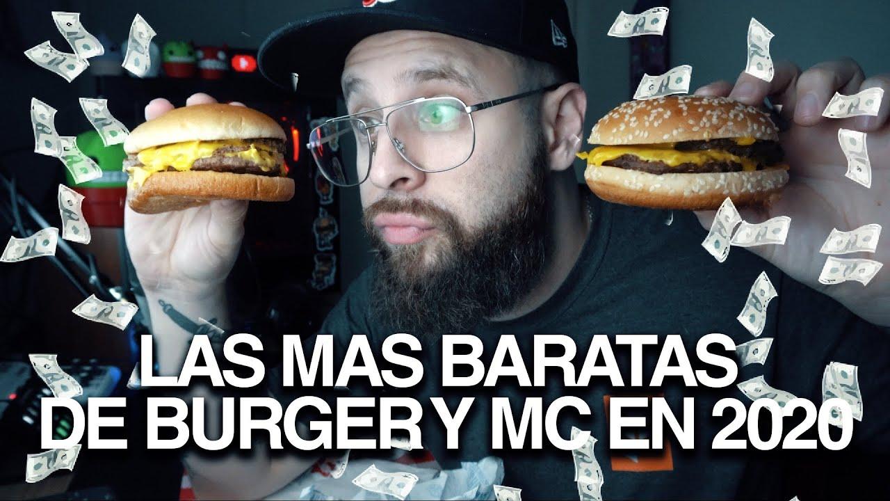 Las mas BARATAS de Burger y Mc en 2020