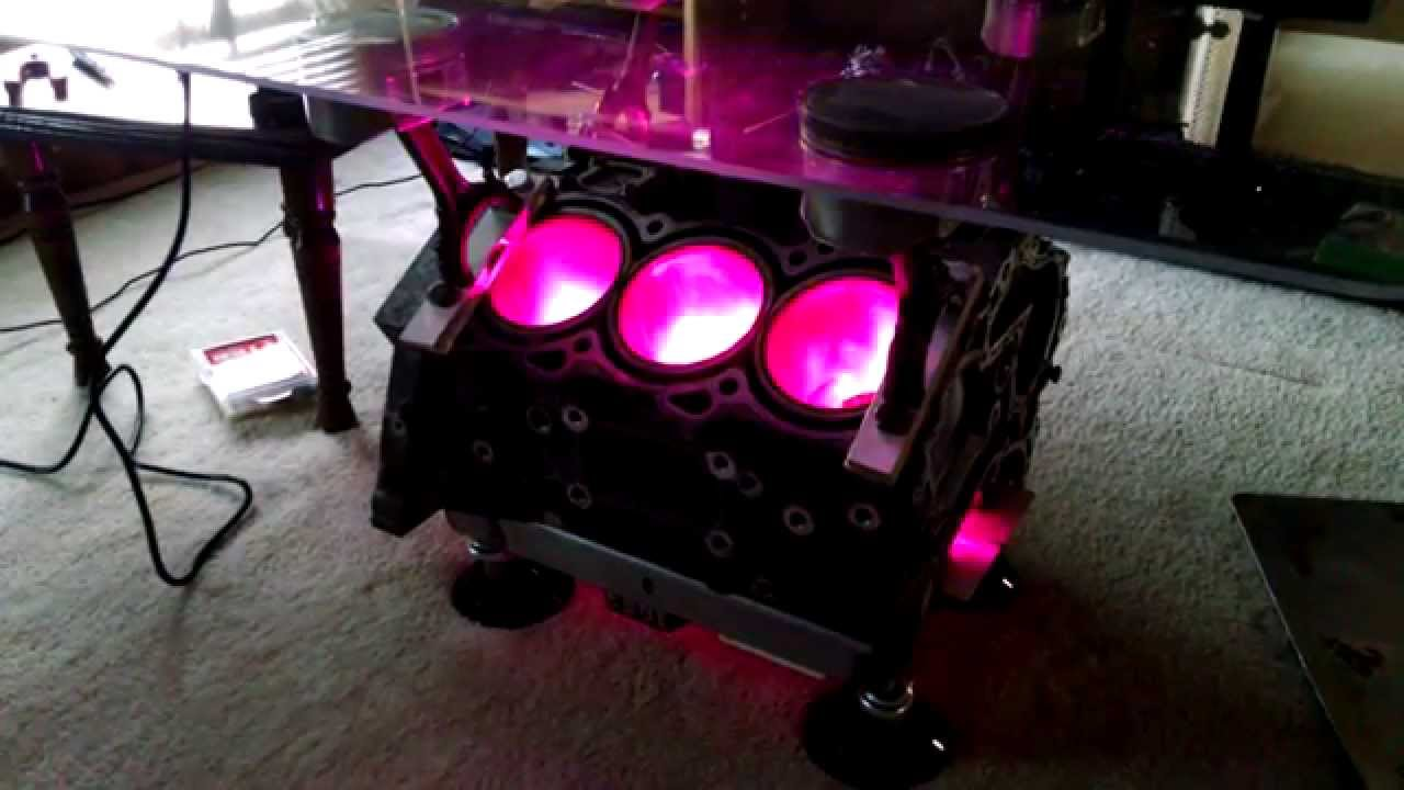 vq35 coffee table with led lights - youtube