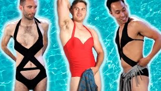 Men Try Women's Swimwear
