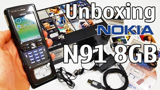 Nokia N91 8GB Black Unboxing 4K with all original accessories RM-43 review