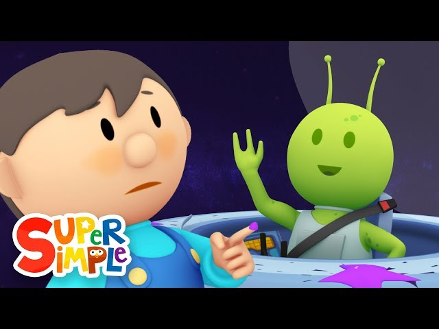 Sparky's Spaceship goes through the car wash | Cartoon for kids