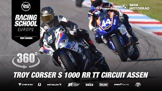 Troy Corser 🐊 S1000RR M 360° Onboard in TT Circuit Assen