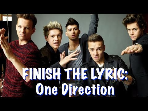 FINISH THE LYRICS: One Direction 1D