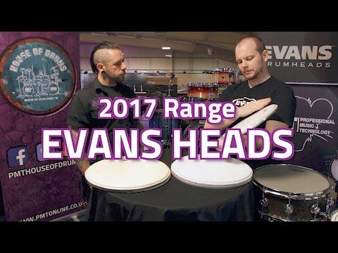 2017 Evans Drum Head Range (Including UV1, Calftone & Hybrid)
