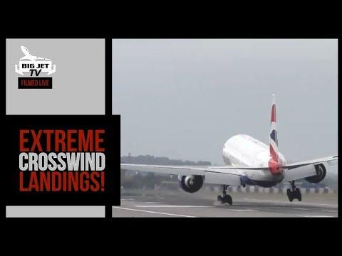 EXTREME CROSSWIND LANDINGS - LONDON HEATHROW AIRPORT