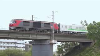 DF200レッドベアー牽引 H100型 12両 甲種輸送(甲70、71、9171レ、9173レ)