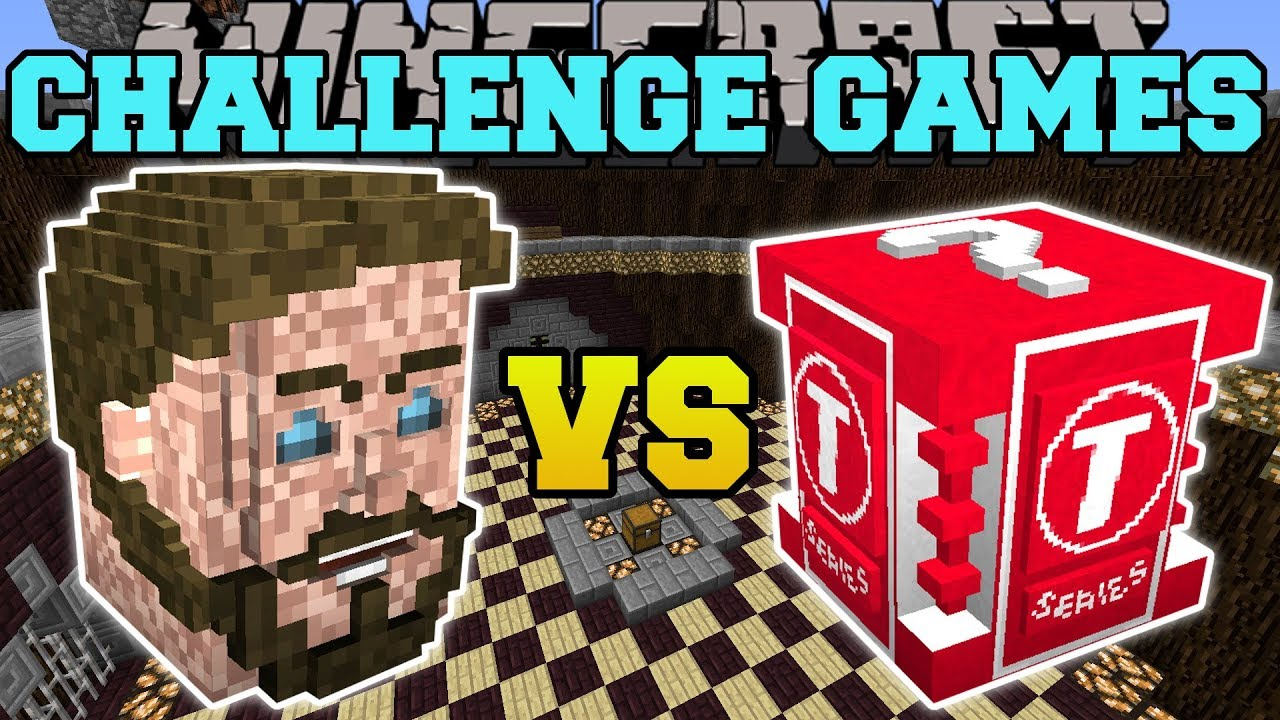 Minecraft: PEWDIEPIE VS T-SERIES CHALLENGE GAMES - Lucky Block Mod - Modded Mini-Game