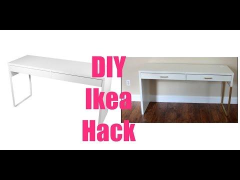 Ikea Hacks| Micke Vanity Desk & Irja Curtain Rods