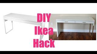 ikea hacks  micke vanity desk irja curtain rods