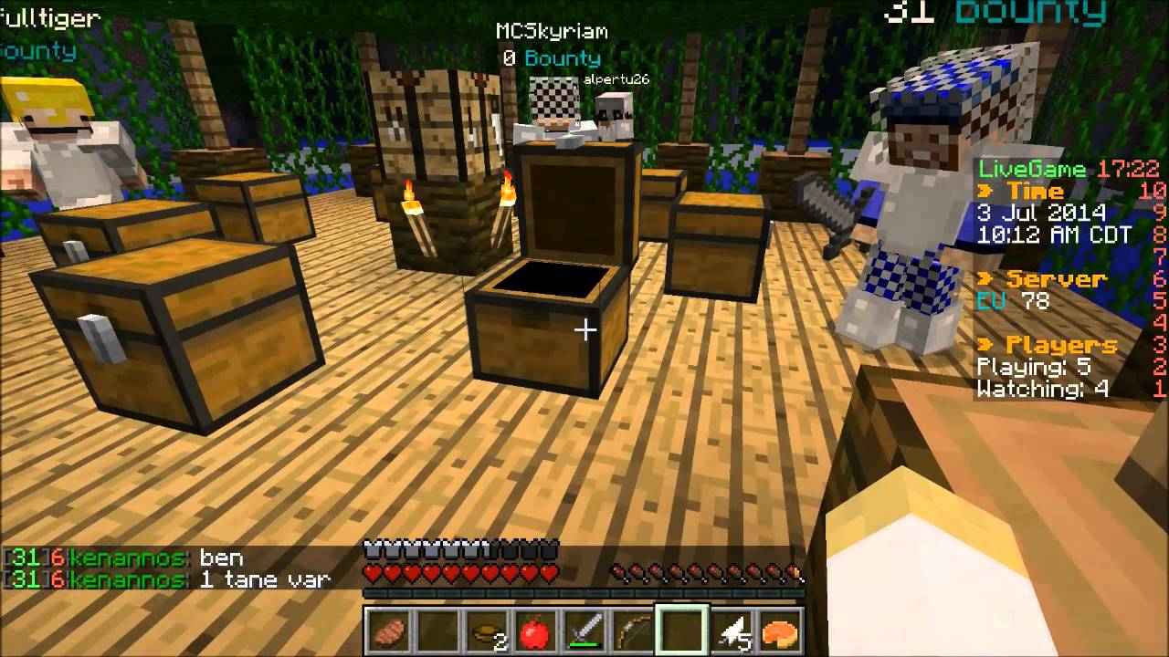 T 252 Rk 231 E Minecraft Hunger Games 76 A 231 Lık Oyunları