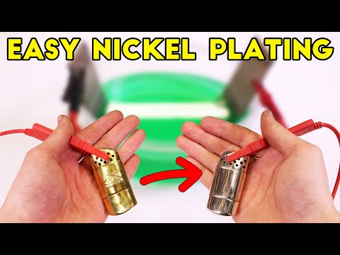 How To Make Simple DIY Nickel Plating Set Up - Easy Electroplating For Beginners