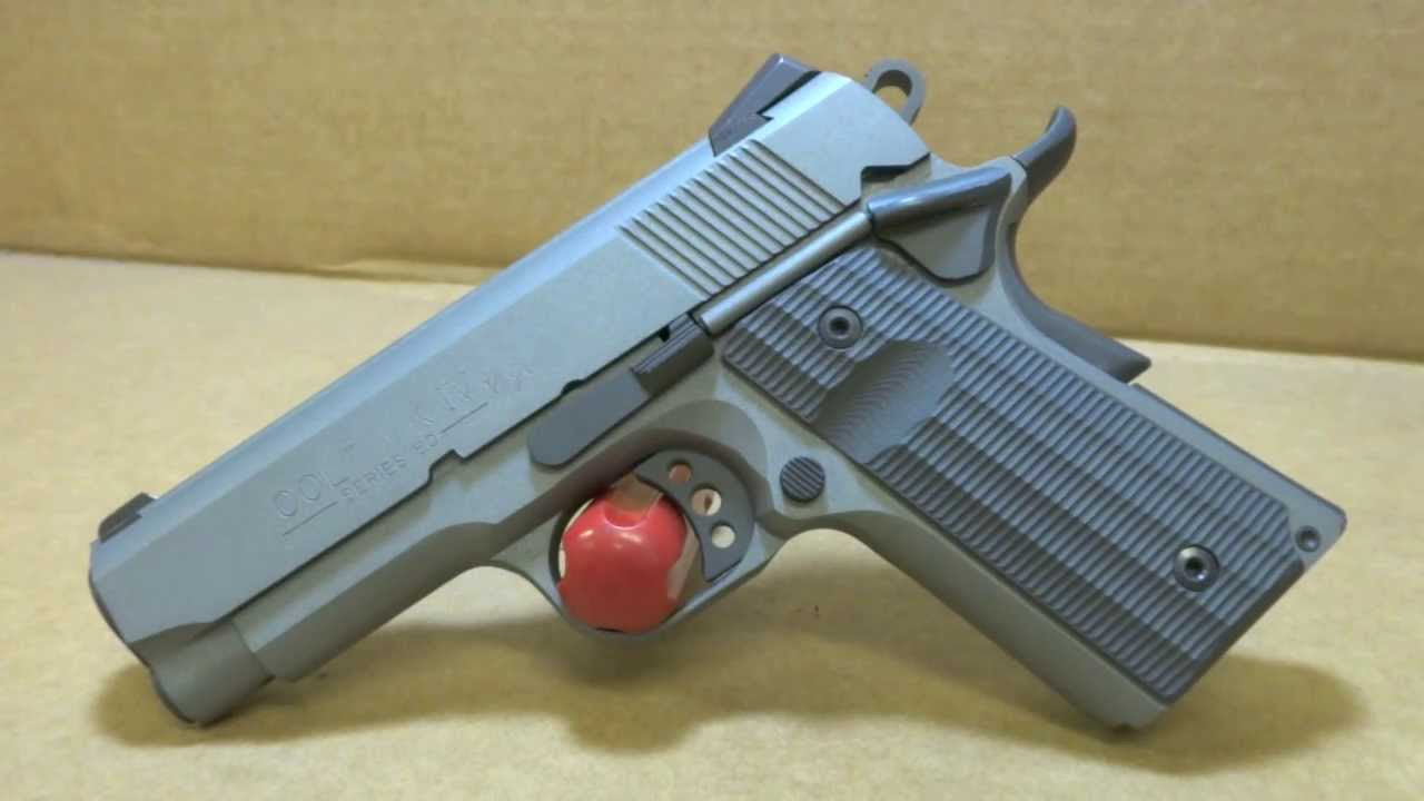 Colt Mark IV Series 80 1911 with Custom Blue Titanium & Sniper Grey Cerakote