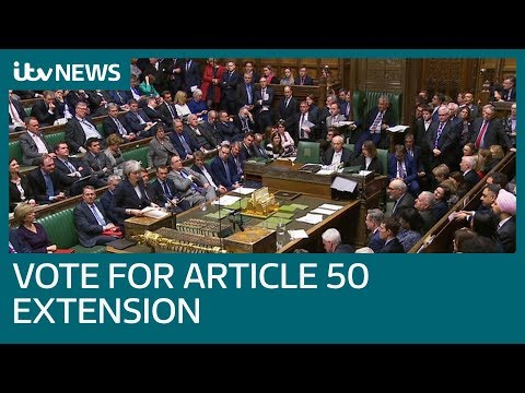 MPs vote to delay Brexit beyond March 29 | ITV News