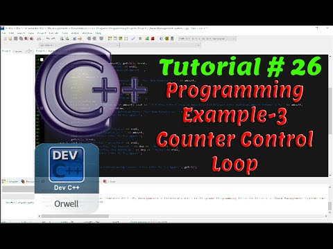 Tutorial#26 - Programming Example-3 | Counter Control Loop | C++ Programming by Coding Hub thumbnail