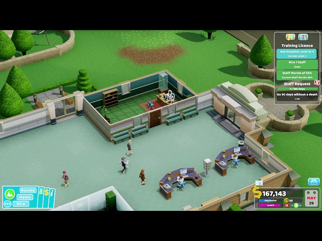 Two Point Hospital - Ep 3 - Flottering