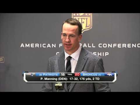 Peyton Manning: 'This is a sweet day' | Patriots vs. Broncos | NFL