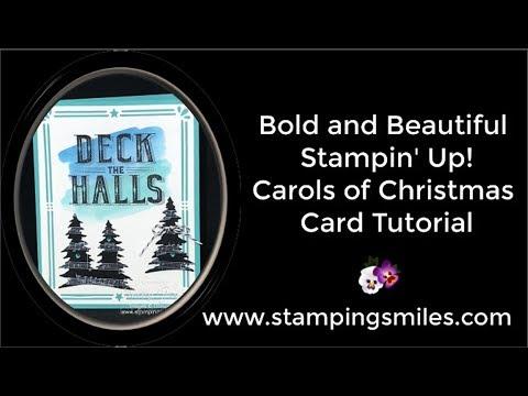 Bold and Beautiful Stampin' Up! Carols of Christmas Card Tutorial
