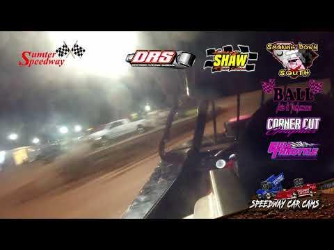 Winner #44 Josh Fields - 602 Crate Modified - 8-17-19 Sumter Speedway - In-Car Camera