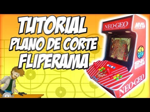 TUTORIAL: Plano de Corte Fliperama / Corel Draw