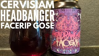 Cervisiam Headbanger Facerip Imperial Blueberry Gose | Norwegian Craft Beer Review