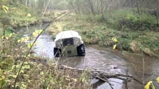 Вездеход Шерп по речке Яхрома