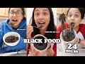 i only ate black food for 24 hours | clickfortaz