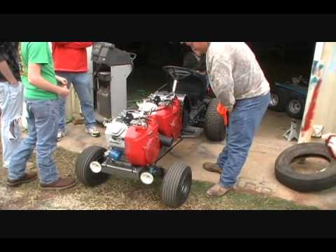Dual Engine Garden Tractor Puller Youtube