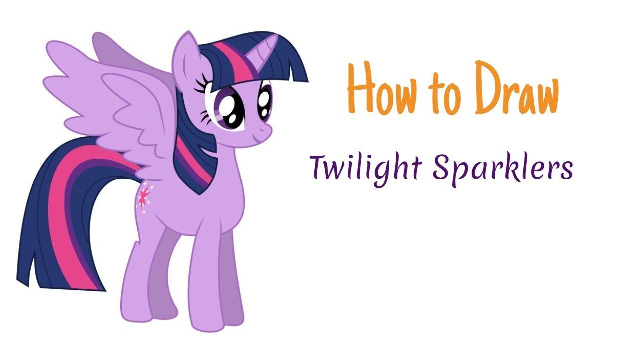 how to draw twilight sparkle from my pony