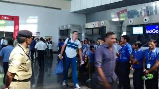 India  and South Africa cricket team in indore airport