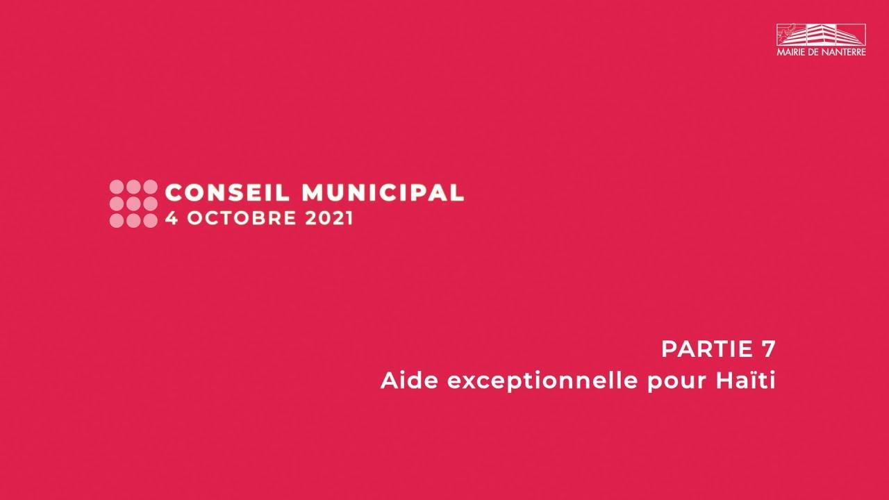 Conseil municipal du 4 octobre 2021 - PARTIE 7