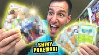 *TEN SHINY POKEMON CARDS PULLED!* Opening TONS OF GX ULTRA SHINY Booster Packs!