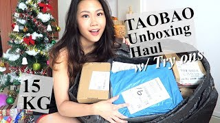S$500 TAOBAO 淘宝 Unboxing Haul w/ Try ons 2017 || Agent or TB Direct?