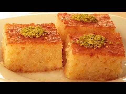 Recette de Basboussa noix de coco - dessert de sorbet