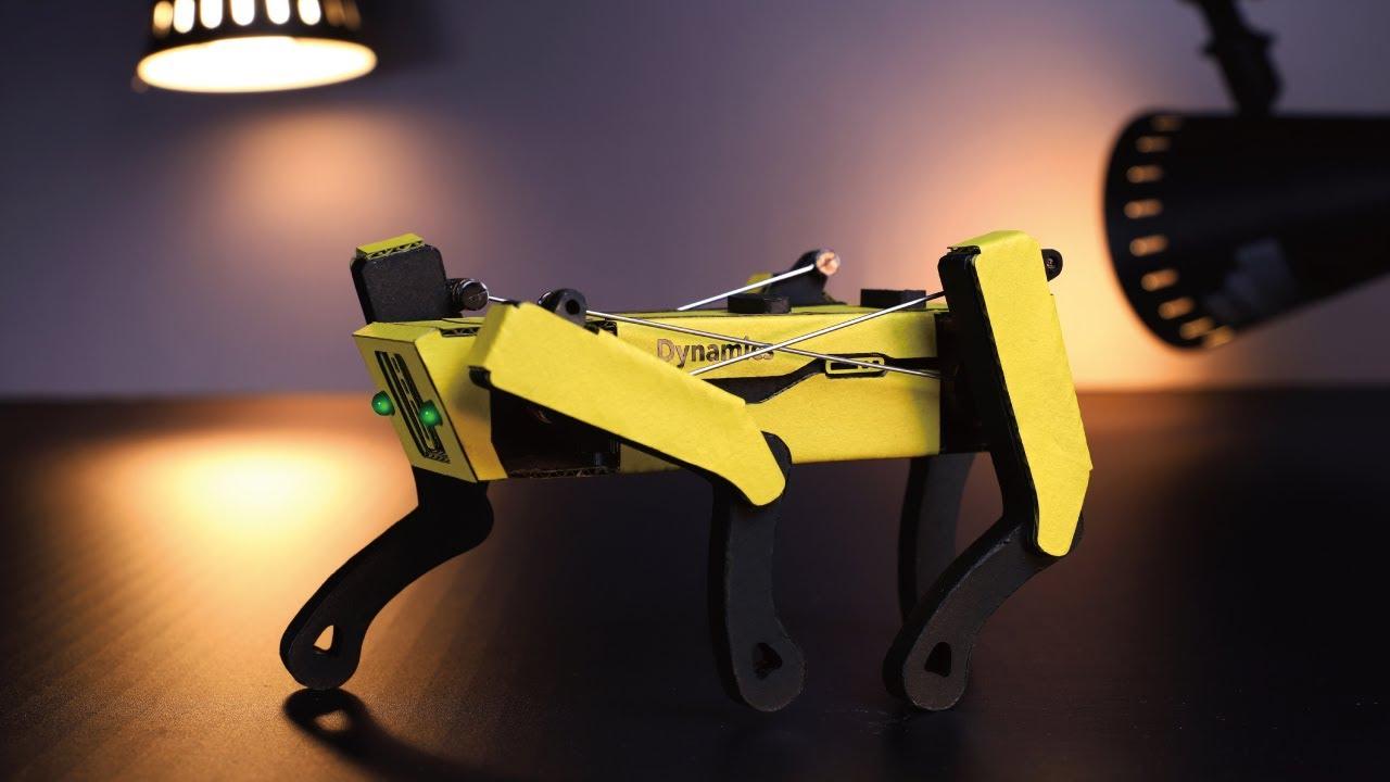 【Spot】4足歩行ロボットの作り方|Making Quadrupedal walking robot Spot out of Cardboard and MDF【ダンボール工作】