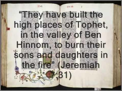 Moloch - children sacrifice