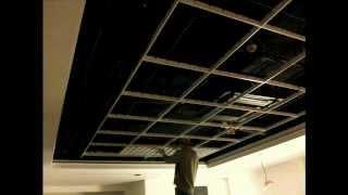 потолок грильято(один из видов подвесного потолка -