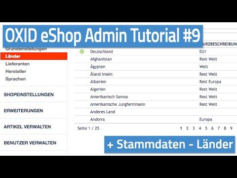 Oxid eShop Admin Tutorial #09 - Stammdaten - Länder