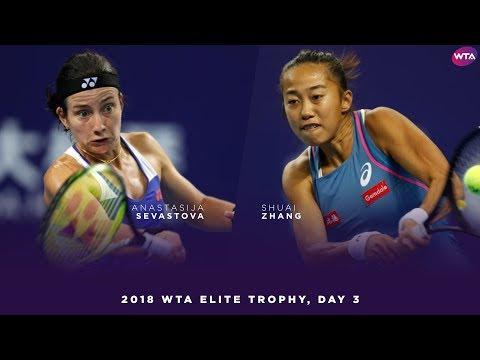 Anastasija Sevastova vs. Zhang Shuai | 2018 WTA Elite Trophy Day 3 | WTA Highlights