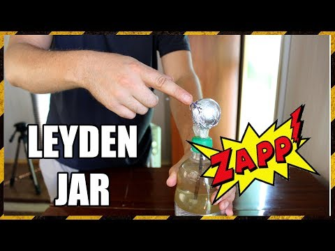 SUPER HIGH VOLTAGE Capacitor   Leyden Jar
