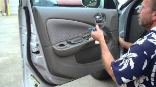How to Nissan Sentra car stereo Speaker Removal 2000 - 2006 bose Rockford replace
