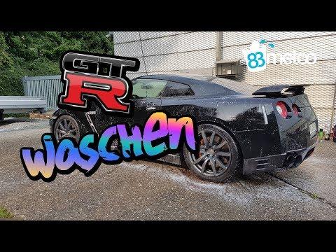 Nissan GTR R35 Autowäsche | Godzilla Gets a Bath | CarPro HydrO2 Lite Sprühversiegelung Test