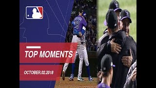 Top 10 Moments of the NL Wild Card: October 2, 2018
