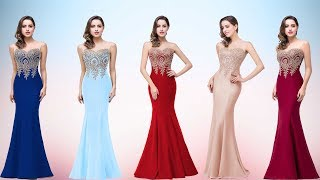 new Red Mermaid lace Evening Dress / pOm Dress 2018