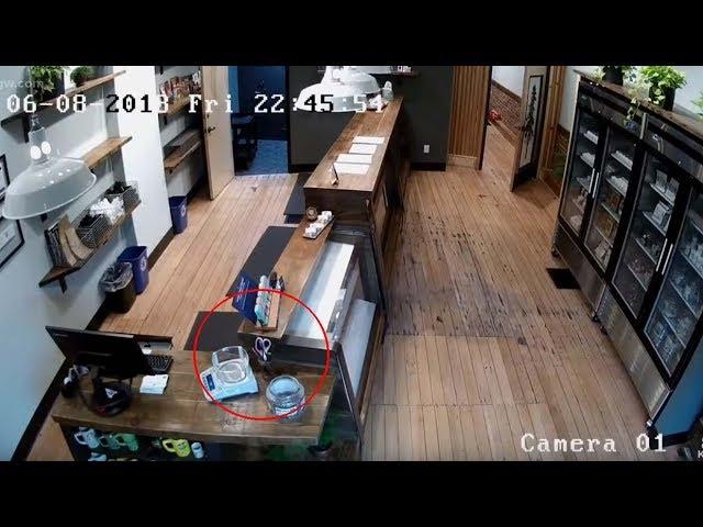Cámaras de seguridad captan actividad paranormal en una tienda de marihuana de Oregón