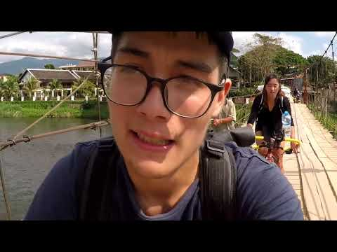 Episode 14 -  SURVIVAL ?   Vang Vieng ( laos) travel with bicycle in asia