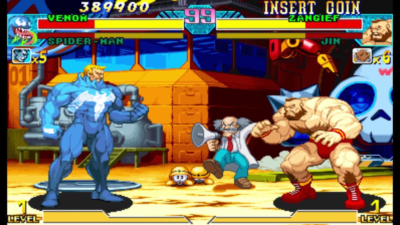 Marvel vs Capcom 1 ( Arcade ) - Venom / Spider-man Playthrough ( May 29, 2017 ) - YouTube