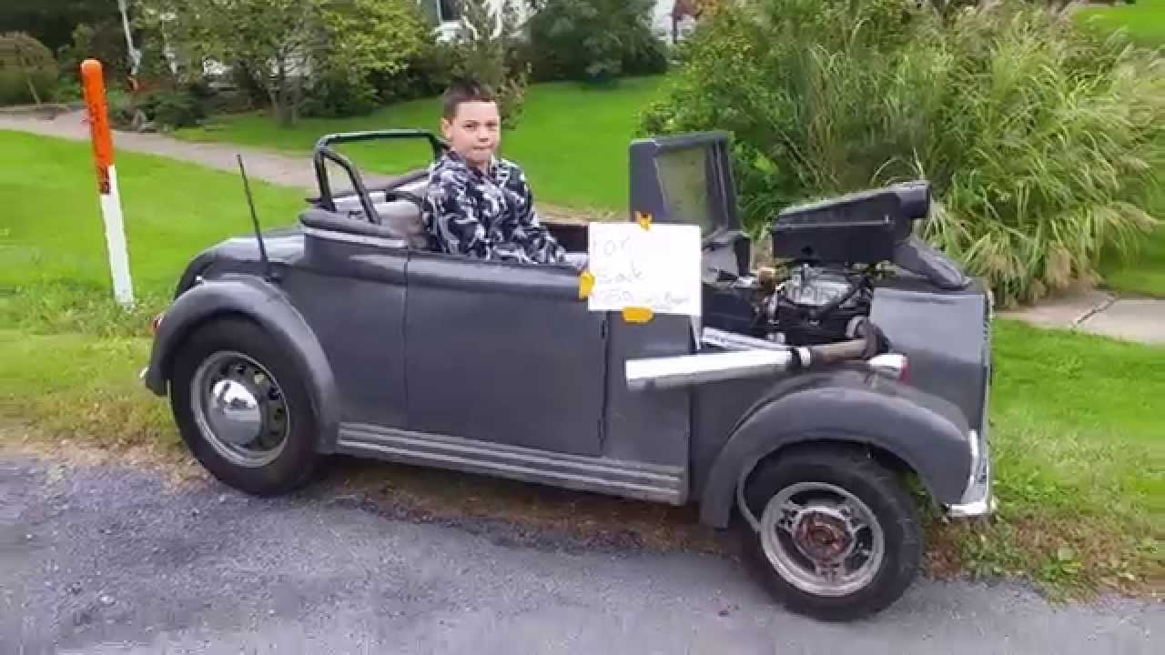 kawasaki motorcycle powered go cart mini hot rod youtube. Black Bedroom Furniture Sets. Home Design Ideas