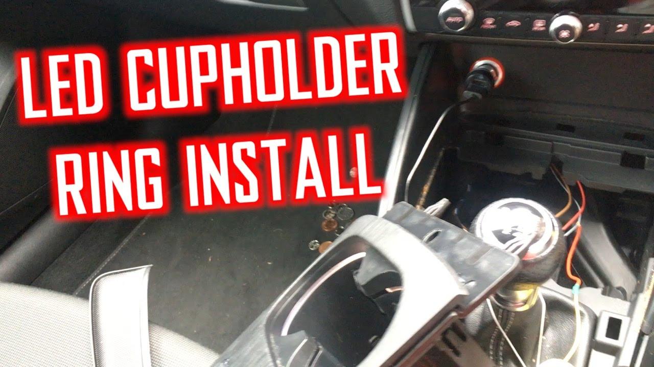 AUDI A3 2013 8V - LED CUPHOLDER RING INSTALL