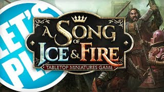 Justin plays a song of ice & fire: tabletop miniatures game with designer michael shinall from cmon at the bow us studio. using stark vs lannister starte...